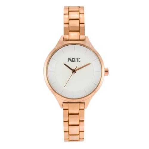 damski zegarek X6036 z kolekcji pacific classic na bransolecie w kolorze rosegold z białą tarczą