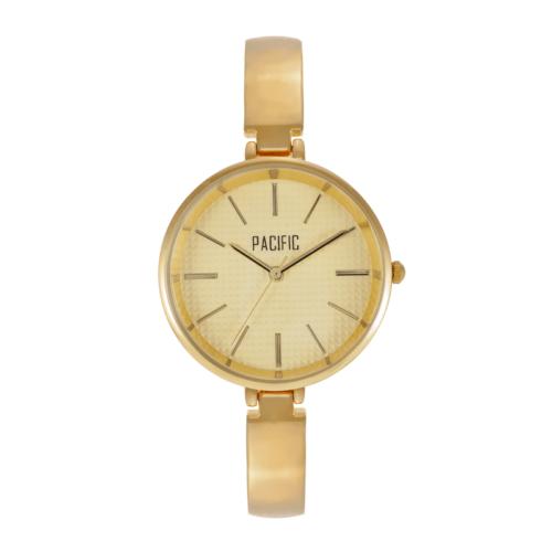 damski zegarek X6013 z kolekcji pacific classic na złotej bransolecie ze złotą tarczą